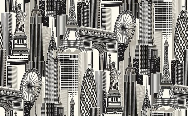 cityscape wallpaper murals give instant